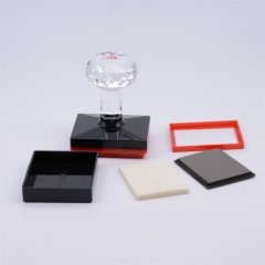 Wholesale Rectangular YH Crystal Stamp Holder Shell and Pad for Making Photosensitive Flash Stamp